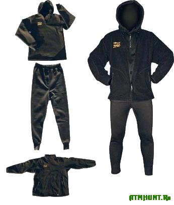 Полностью дышащее термобелье SEAFOX BLACK WARM 3 в 1: флисовая куртка + термокофта + термоштаны. Термобелье SEAFOX BLACK WARM - американсоке качество, потря сающий комфорт и долговечность использования!