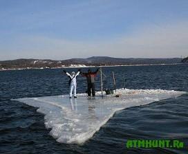 Na Sahaline spasli rybakov s otkolovshejsja l'diny