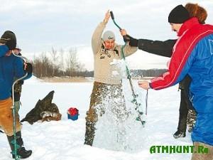 Pskovskij jurinstitut provel sorevnovanija po zimnej rybalke