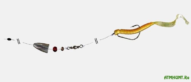 каролинская оснастка для ловли окуня