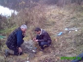 V Zhitomire 4 brakon'era nalovili ryby na 13 tysjach griven