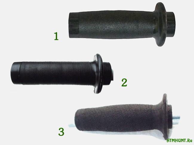 Ручки ледобуров для зимней рыбалки